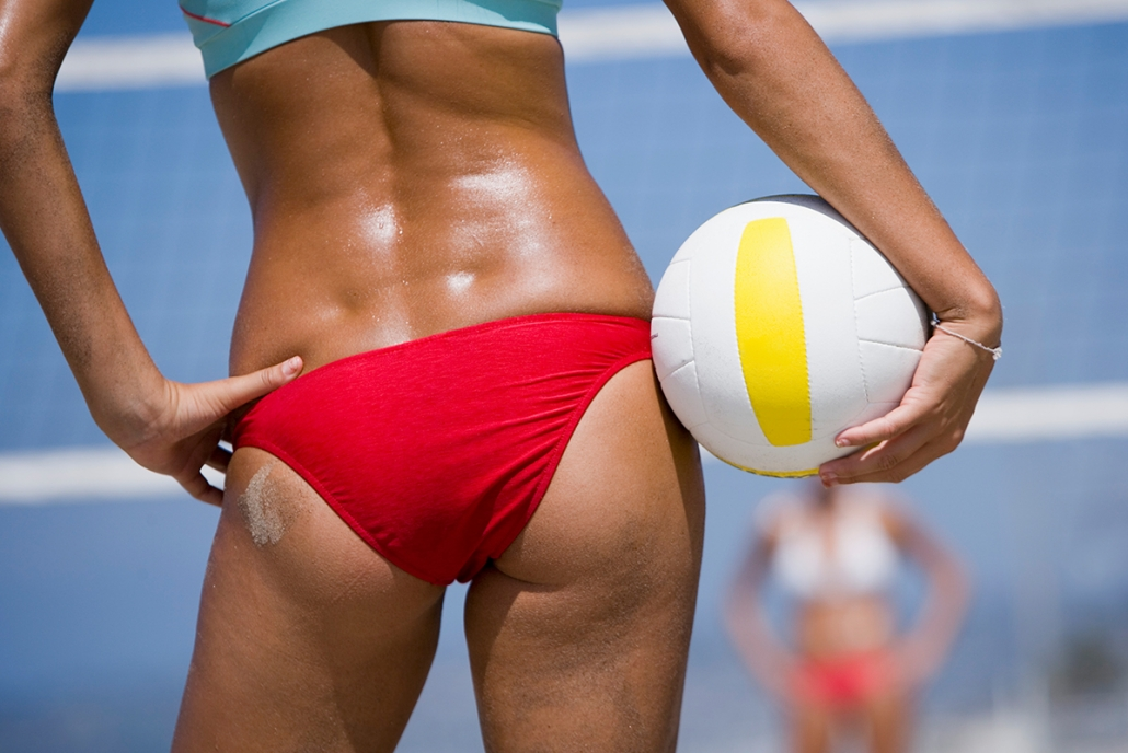 Playing volleyball in Ocean City and Murphys Hemp Oil